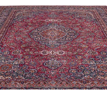"""Vintage Hand-Knotted Oriental Rug - 9' 9"""" x 12' 8"""" (117 in. x 152 in.) - K0018259"""