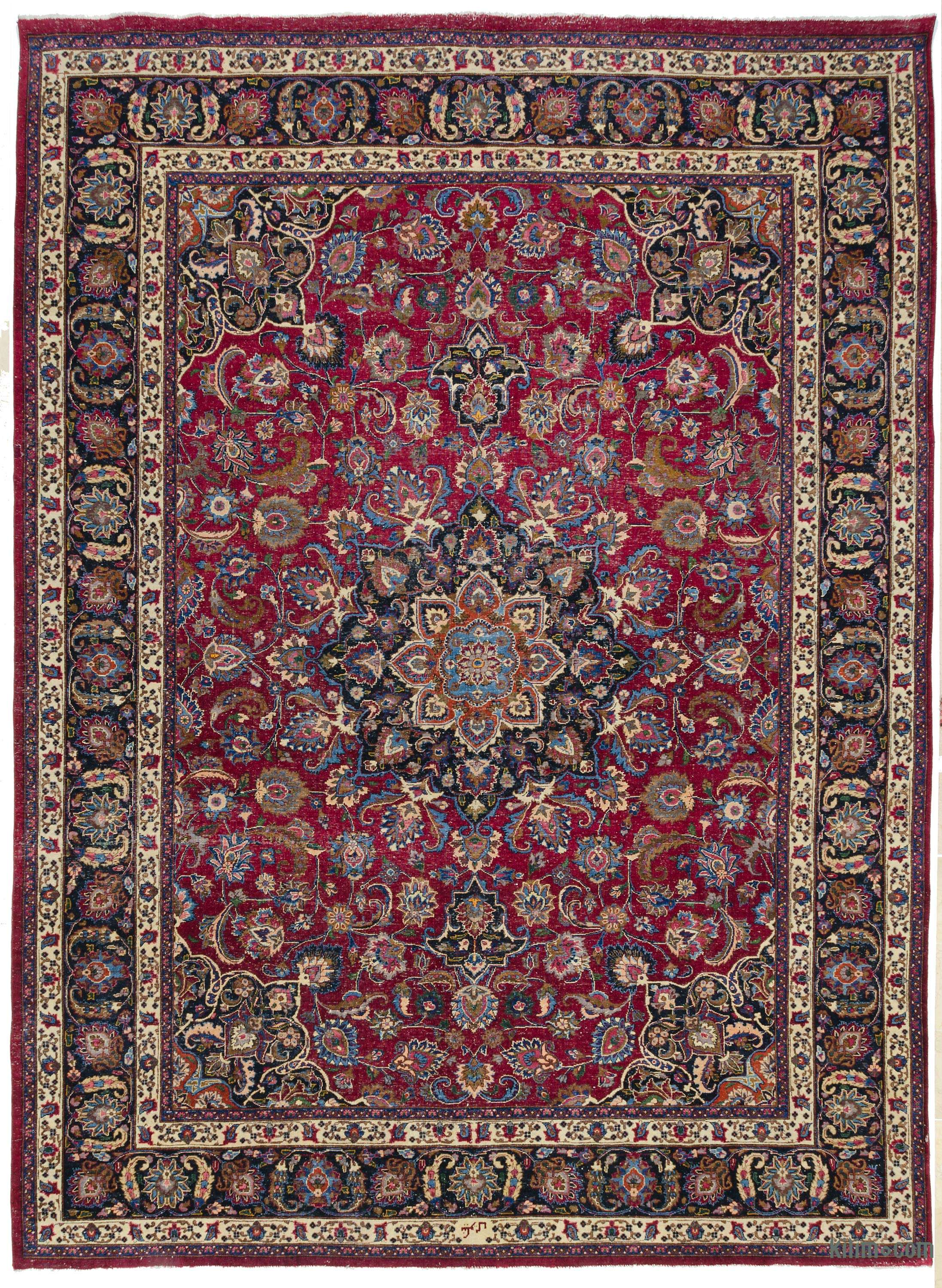 Vintage Hand Knotted Oriental Rug