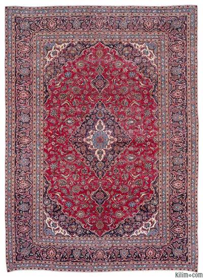 """Vintage Hand-knotted Oriental Rug - 9'3"""" x 12'10"""" (111 in. x 154 in.)"""