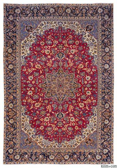 "Vintage Hand-knotted Oriental Rug - 9'5"" x 13'2"" (113 in. x 158 in.)"