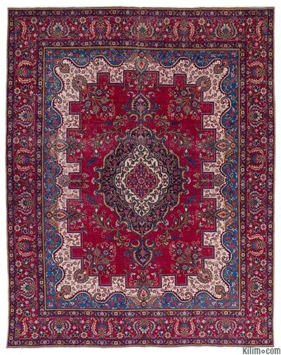 "Vintage Hand-knotted Oriental Rug - 9'8"" x 12'8"" (116 in. x 152 in.)"