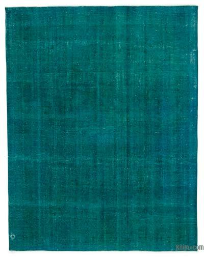 """Over-dyed Vintage Hand-knotted Oriental Rug - 9'6"""" x 12'6"""" (114 in. x 150 in.)"""