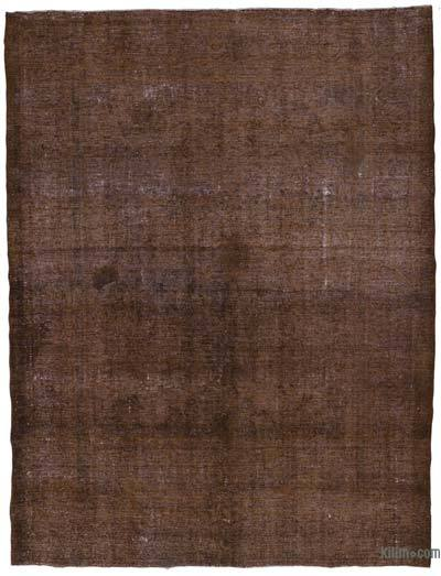 "Brown Over-dyed Vintage Hand-knotted Oriental Rug - 9' 7"" x 12' 10"" (115 in. x 154 in.)"