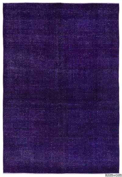 """Purple Over-dyed Vintage Hand-knotted Oriental Rug - 8' 3"""" x 12' 4"""" (99 in. x 148 in.)"""