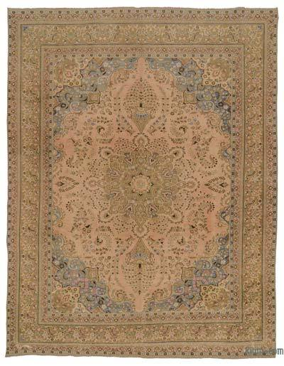 """Vintage Hand-knotted Oriental Rug - 9' 6"""" x 12' 6"""" (114 in. x 150 in.)"""