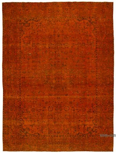 """Over-dyed Vintage Hand-knotted Oriental Rug - 9' 6"""" x 12' 10"""" (114 in. x 154 in.)"""