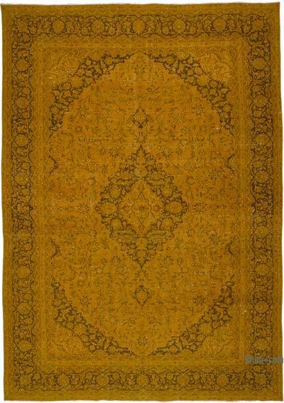 Sarı Boyalı Vintage İran Halısı - 284 cm x 400 cm