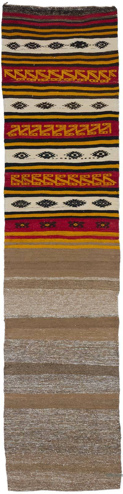 "Vintage Turkish Kilim Runner - 1' 11"" x 8' 1"" (23 in. x 97 in.)"