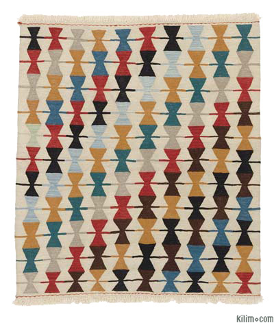 "New Turkish Kilim Rug - 4' 2"" x 4' 8"" (50 in. x 56 in.)"