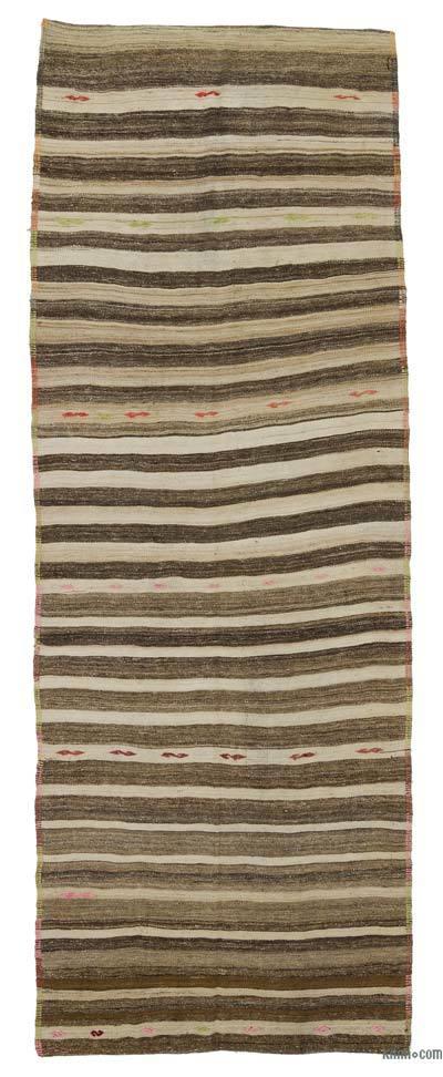 Kilim Vintage Turco De Pasillo - 125 cm x 342 cm