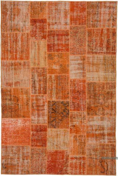 "Over-dyed Turkish Patchwork Rug - 6'6"" x 9'10"" (78 in. x 118 in.)"