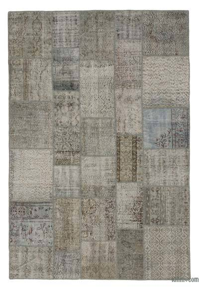 "Over-dyed Turkish Patchwork Rug - 6'8"" x 9'11"" (80 in. x 119 in.)"