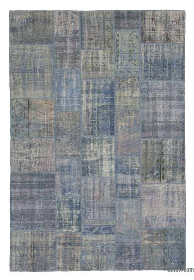 "Over-dyed Turkish Patchwork Rug - 6'8"" x 10' (80 in. x 120 in.)"