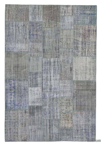 "Over-dyed Turkish Patchwork Rug - 6'9"" x 10' (81 in. x 120 in.)"