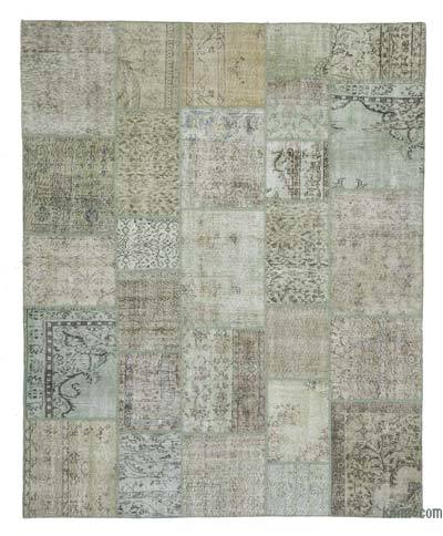 "Over-dyed Turkish Patchwork Rug - 8' 3"" x 10' 2"" (99 in. x 122 in.)"