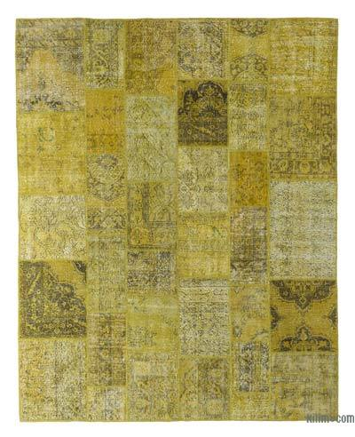"Over-dyed Turkish Patchwork Rug - 8'1"" x 10'1"" (97 in. x 121 in.)"