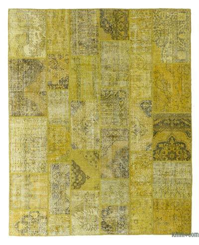 "Over-dyed Turkish Patchwork Rug - 8' x 9'11"" (96 in. x 119 in.)"