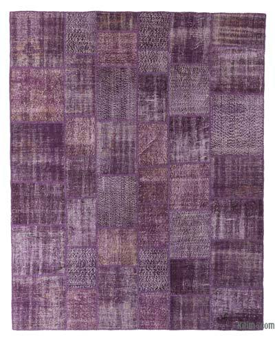 "Over-dyed Turkish Patchwork Rug - 8' x 10'1"" (96 in. x 121 in.)"
