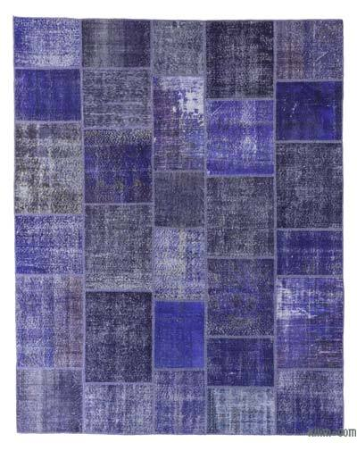"Over-dyed Turkish Patchwork Rug - 8'3"" x 10'4"" (99 in. x 124 in.)"