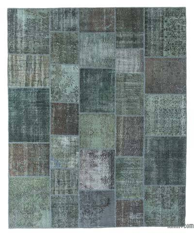 """Over-dyed Turkish Patchwork Rug - 8' 2"""" x 10'  (98 in. x 120 in.)"""