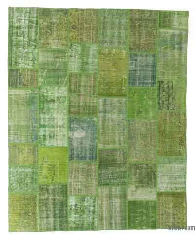 "Over-dyed Turkish Patchwork Rug - 7' 11"" x 9' 10"" (95 in. x 118 in.)"