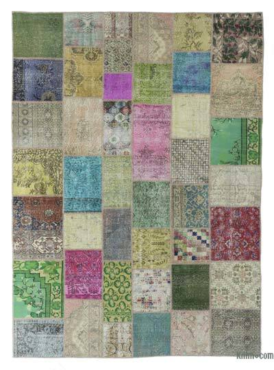 "Turkish Patchwork Rug - 8' 5"" x 11' 6"" (101 in. x 138 in.)"