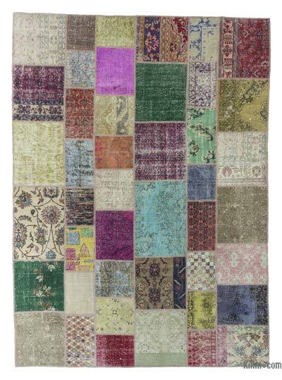 "Turkish Patchwork Rug - 8'6"" x 11'8"" (102 in. x 140 in.)"