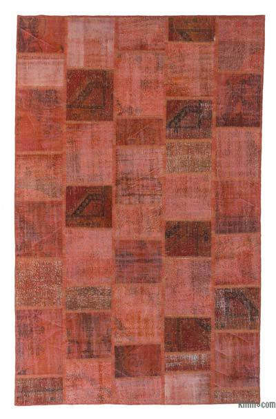 "Over-dyed Turkish Patchwork Rug - 7' 11"" x 12' 7"" (95 in. x 151 in.)"