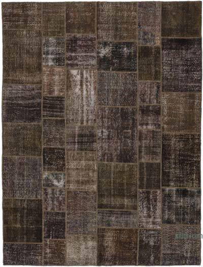 "Over-dyed Turkish Patchwork Rug - 8'6"" x 11'4"" (102 in. x 136 in.)"