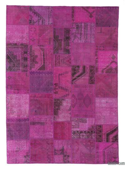 "Over-dyed Turkish Patchwork Rug - 8'2"" x 11'5"" (98 in. x 137 in.)"
