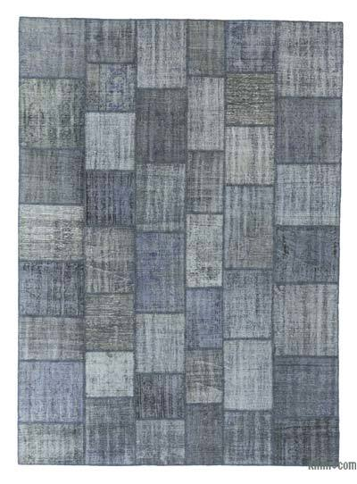 "Over-dyed Turkish Patchwork Rug - 8'4"" x 11'7"" (100 in. x 139 in.)"