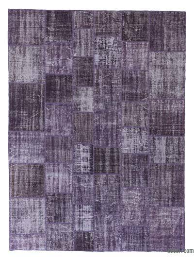 "Over-dyed Turkish Patchwork Rug - 8'5"" x 11'6"" (101 in. x 138 in.)"