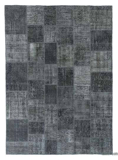 """Over-dyed Turkish Patchwork Rug - 8' 3"""" x 11' 7"""" (99 in. x 139 in.)"""