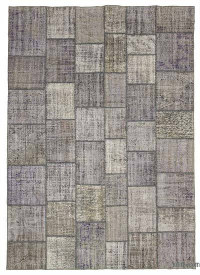 "Over-dyed Turkish Patchwork Rug - 8' 3"" x 11' 7"" (99 in. x 139 in.)"