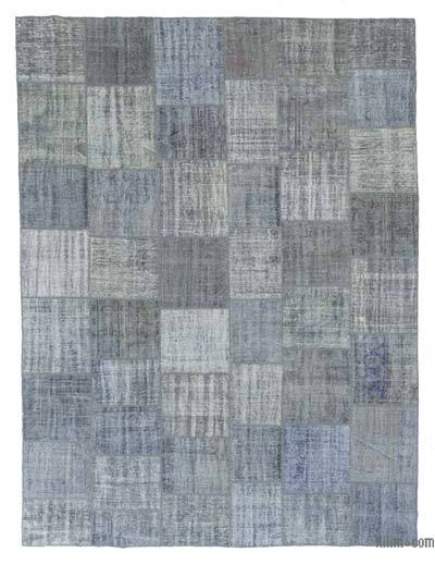 "Over-dyed Turkish Patchwork Rug - 9' 11"" x 13' 2"" (119 in. x 158 in.)"