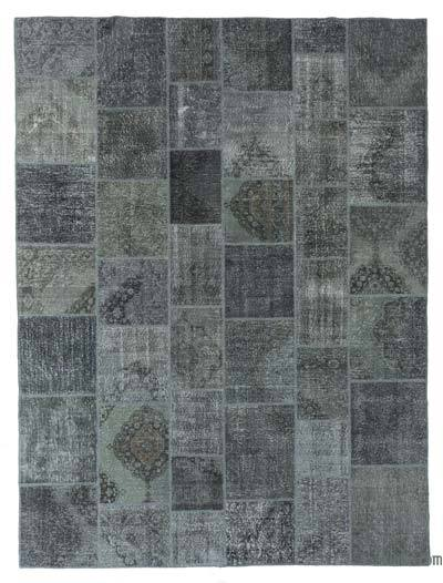 "Over-dyed Turkish Patchwork Rug - 10' x 13'4"" (120 in. x 160 in.)"