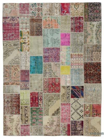 "Turkish Patchwork Rug - 9'9"" x 13'1"" (117 in. x 157 in.)"