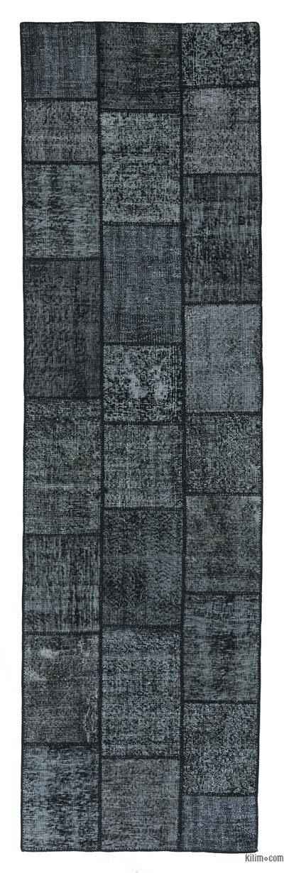 Over-dyed Turkish Patchwork Runner Rug