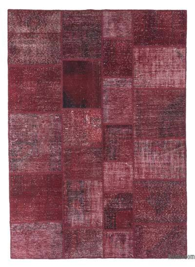 "Over-dyed Turkish Patchwork Rug - 5' 10"" x 8' 1"" (70 in. x 97 in.)"