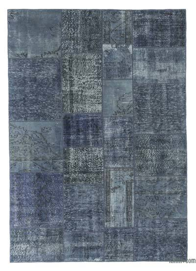 "Over-dyed Turkish Patchwork Rug - 5' 7"" x 7' 10"" (67 in. x 94 in.)"