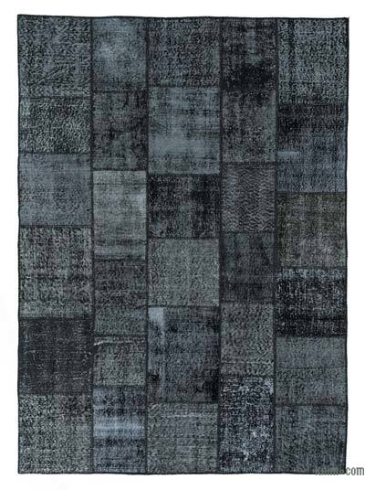 "Over-dyed Turkish Patchwork Rug - 5'9"" x 7'11"" (69 in. x 95 in.)"