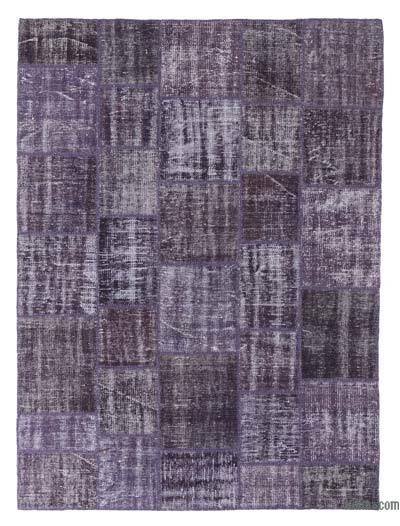 """Over-dyed Turkish Patchwork Rug - 5' 11"""" x 8'  (71 in. x 96 in.)"""