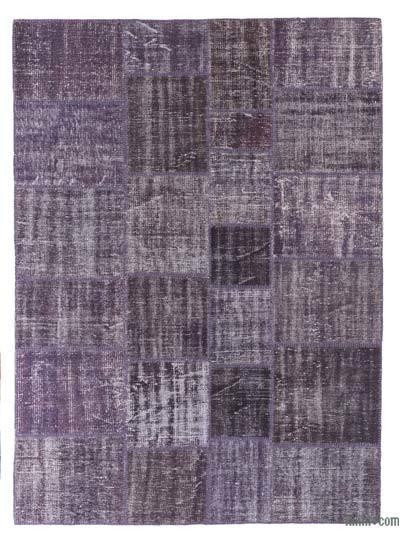 Alfombra De Retazos Turca Sobre-teñida - 174 cm x 241 cm