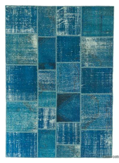 "Over-dyed Turkish Patchwork Rug - 5'9"" x 8' (69 in. x 96 in.)"