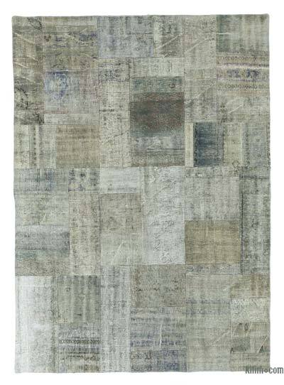 "Over-dyed Turkish Patchwork Rug - 5' 8"" x 7' 10"" (68 in. x 94 in.)"