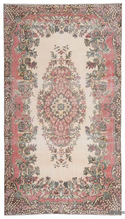 """Turkish Vintage Area Rug - 5'6"""" x 9'10"""" (66 in. x 118 in.)"""