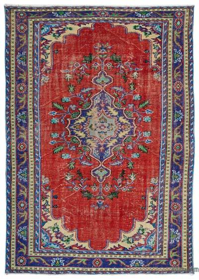 "Turkish Vintage Area Rug - 6' 8"" x 9' 7"" (80 in. x 115 in.)"