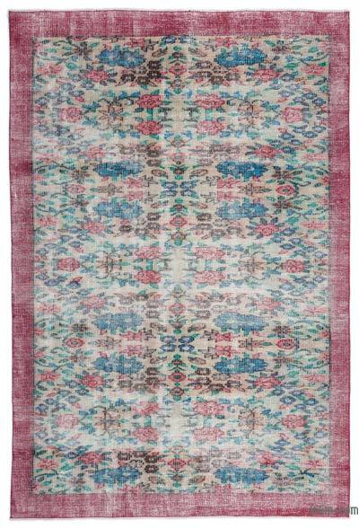 "Turkish Vintage Area Rug - 5'7"" x 8'4"" (67 in. x 100 in.)"