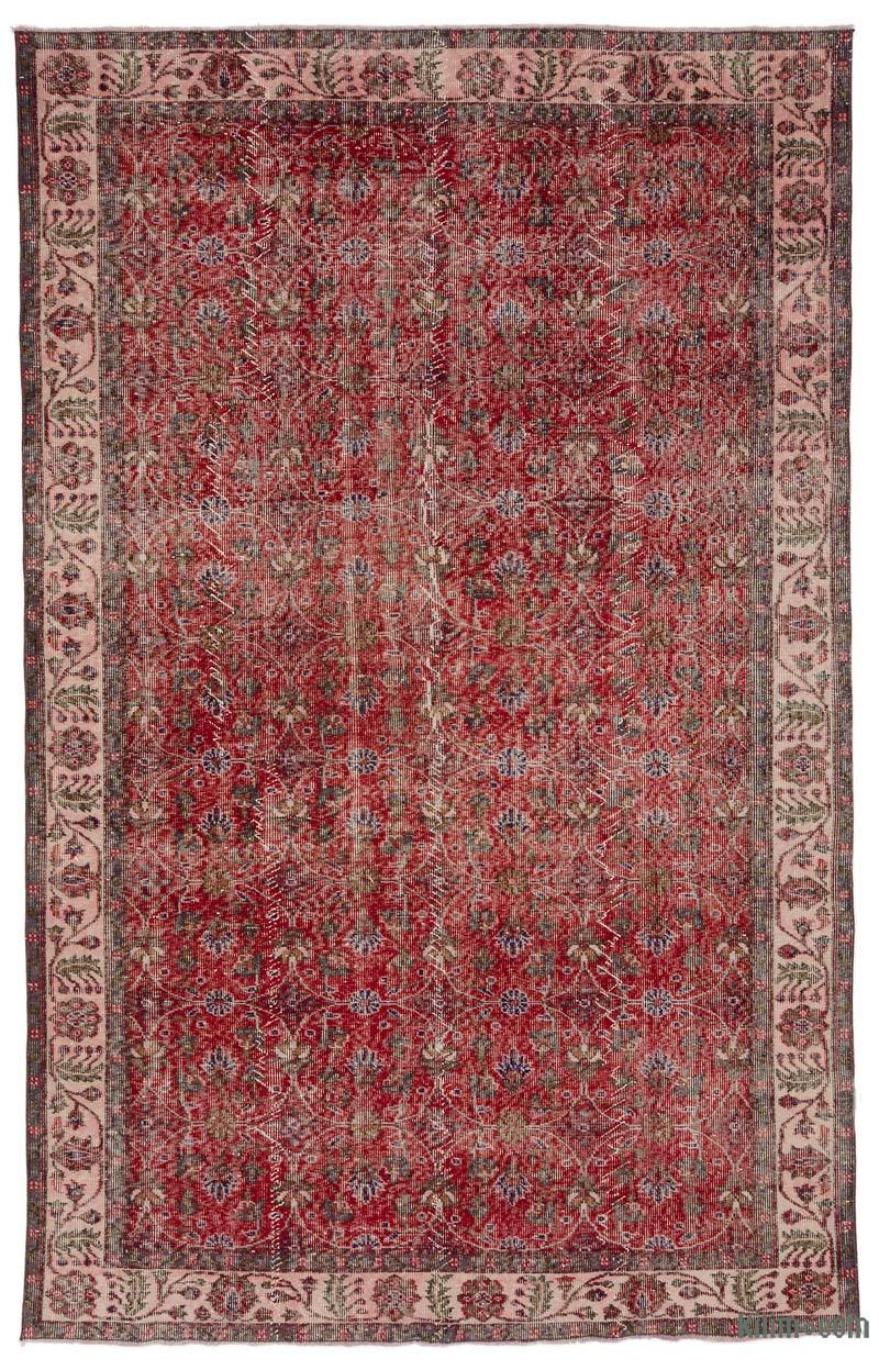 """Vintage Turkish Hand-Knotted Rug - 6' 2"""" x 9' 7"""" (74 in. x 115 in.) - K0018938"""