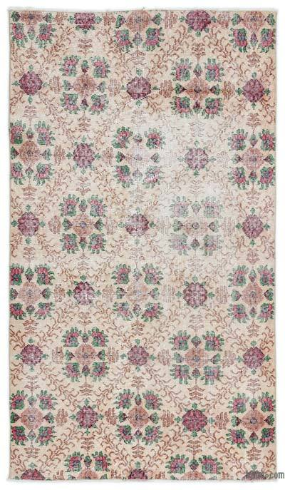 """Turkish Vintage Area Rug - 3'9"""" x 6'5"""" (45 in. x 77 in.)"""